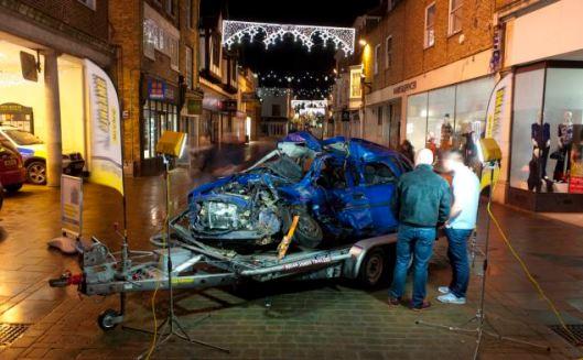 To σμπαραλιασμένο αυτοκίνητο θα εκτεθεί έξω από club στο Ην. Βασίλειο