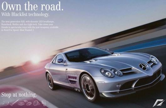 Διαφήμιση Mercedes: ΚΑΝΕ ΤΟ ΔΡΟΜΟ ΔΙΚΟ ΣΟΥ. ΜΗ ΣΤΑΜΑΤΑΣ ΠΟΥΘΕΝΑ. (ΣΣ: Εδώ ο Δημόσιος χώρος/δρόμος εκχωρείται στον καταπατητή. Δεν υπάρχουν άλλοι χρήστες ο δρόμος είναι δικός σου!)