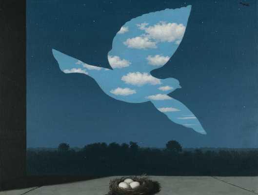 "René Magritte ""Η επιστροφή"" 1940"